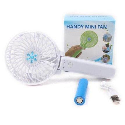 Портативный ручной вентилятор с фонариком Handy Mini Fan, фото 2