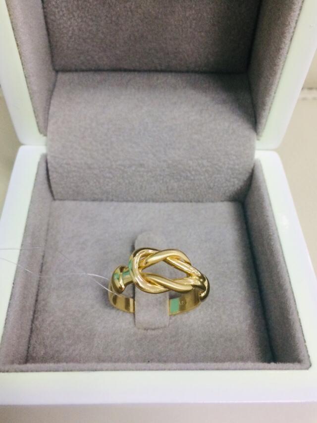 Кольцо / жёлтое золото - 17,5 размер