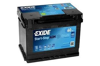 Аккумулятор Exide EK600 AGM