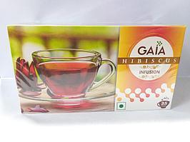 Органический травяной чай из гибискуса Gaia. 25 пакетиков