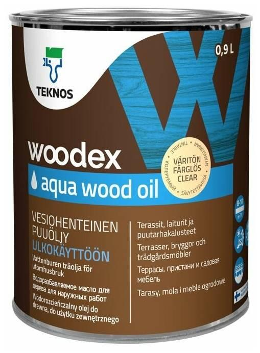 Террасное масло TEKNOS WOODEX AQUA OIL 0,9 л