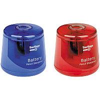 """Точилка электрическая Berlingo """"RoundX"""", круглая, 1 отверстие, с контейнером, ПВХ-коробка, европодвес"""