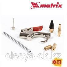 Пистолет продувочный с насадками, 6 шт MATRIX