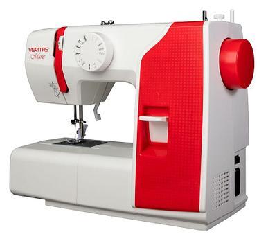 Швейная машина Veritas Marie, белый+красный