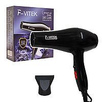 Фен для волос с 2 режимами скорости 2 режима температуры 1 насадка Vitek F-9200