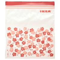 Пакеты для хранения продуктов с застежкой zip-lock IKEA ИСТАД красный 2,5л, 25шт