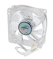 Вентилятор DeepCool Xfan80L/B, 8cm Fan for case, 1800rpm, 21.8CFM, Blue LED, 3pin+Molex