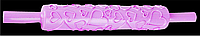 Скалка пластик с рисунком Сердечки 37см (С7673)