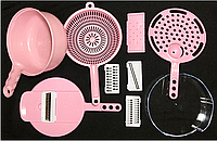 Ковш-терка пластик YG719 с насадками (многофункц.),С7712