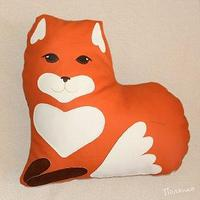 Декоративная подушка Лисичка Сердечко