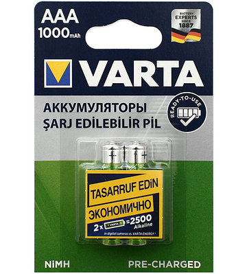 Аккумуляторы Varta AAA (HR03), Longlife Accu NiMH (R2U)
