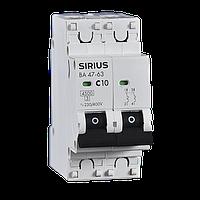 Автоматический выключатель ВА 47-63 2P 20А (С) 4,5 кА SH