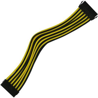 Удлинитель Nanoxia 24-pin ATX, 30см, черный-желтый