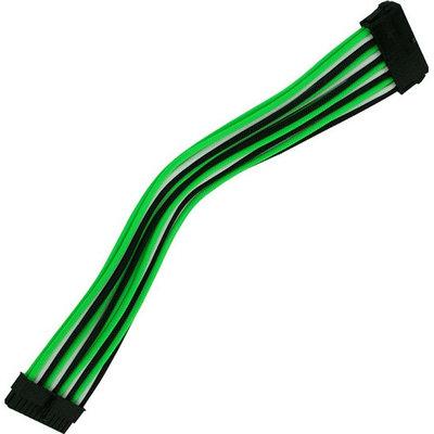 Удлинитель Nanoxia 24-pin ATX, 30см, зеленый-белый-черный