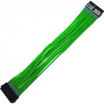 Удлинитель Nanoxia 24-pin ATX, 30см, неоновый зелёный