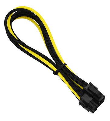 Удлинитель Nanoxia 6-pin PCI-E, 30см, черно-желтый