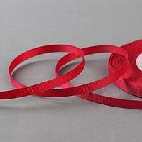 Лента репсовая, 6 мм, 23 ± 1 м, цвет бордовый №33