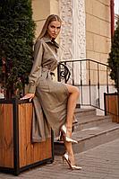 Женское осеннее бежевое нарядное платье Vesnaletto 2728 46р.