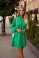 Женское осеннее зеленое нарядное платье Vesnaletto 2729-1 48р.