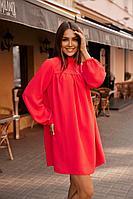 Женское осеннее красное нарядное платье Vesnaletto 2729-2 44р.