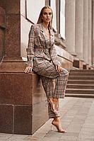 Женский осенний бежевый деловой деловой костюм Vesnaletto 2739 44р.