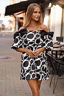 Женское осеннее черное нарядное платье Vesnaletto 2767-1 44р.