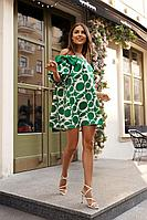 Женское осеннее зеленое нарядное платье Vesnaletto 2767-2 46р.