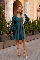 Женское осеннее зеленое нарядное платье Vesnaletto 2771 44р.