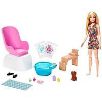 Игровой набор Барби для маникюра и педикюра