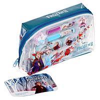Игровой набор детской декоративной косметики для лица, в прямоугольной в косметичке, Disney Frozen