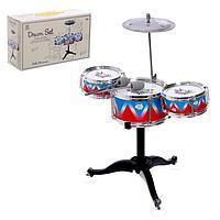 Барабанная установка «Ритм», 3 барабана, тарелка, палочки