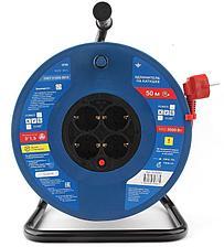Силовой удлинитель на катушке Power Cube PC20503 красно-синий