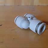 Тройник для пневмошлангов 12*8. Белый, Высокое качество., фото 2