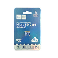 Карта памяти Micro SD Card Hoco 4 Гб, класс 10