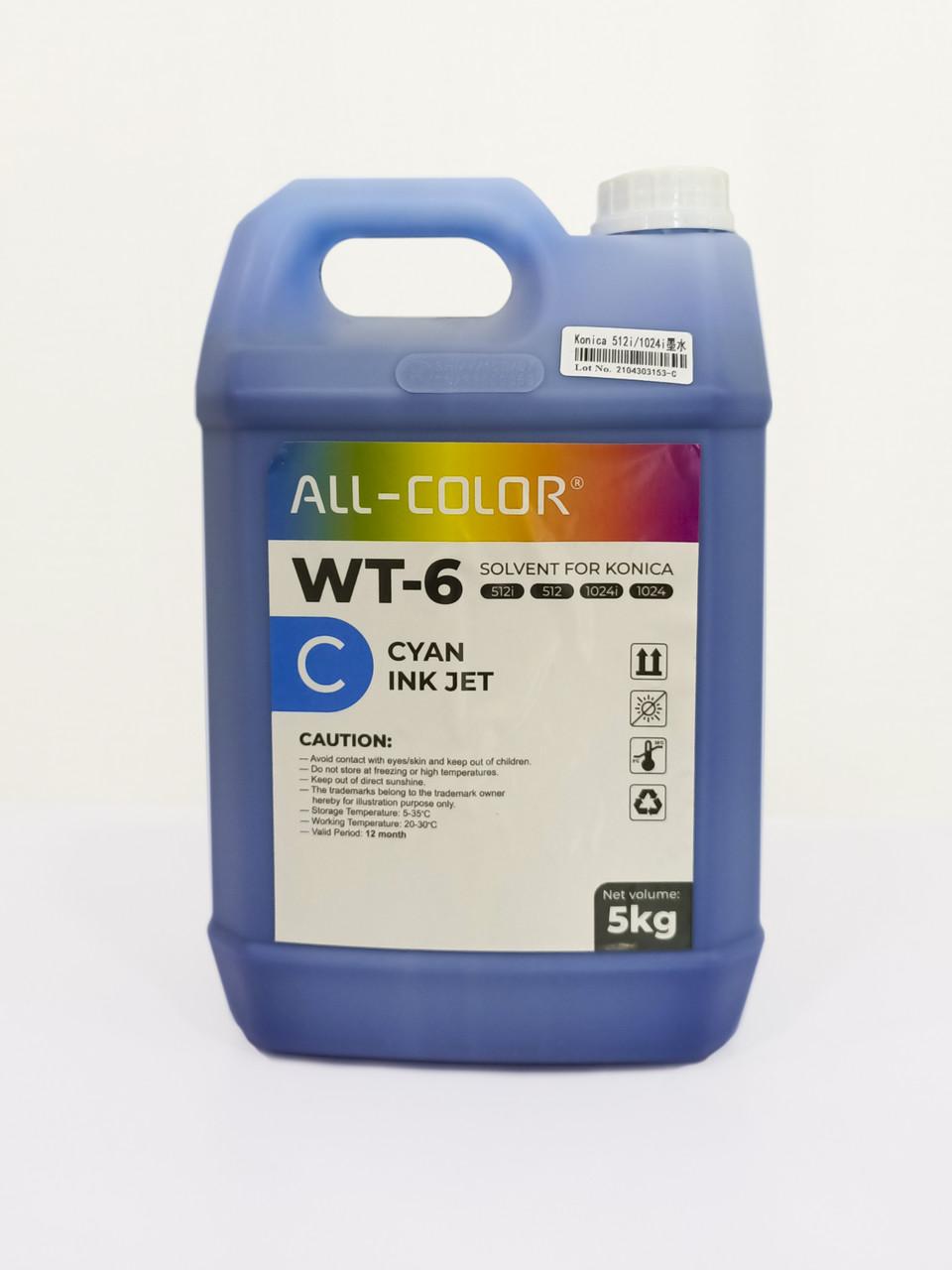 Сольвентная краска WT-6 — синий (WT-5л-C)