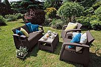 Плетенный комплект мебели Корфу сет