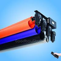 Моторизированное роликовое крепление для 3 фонов , в комплекте металлический трубы 3 метра