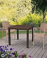 Плетеный стол из экоротанга Квартет