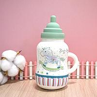 Детская бутылочка керамическая (зеленая)
