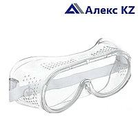 Очки защитные закрытого типа с прямой вентиляцией (Китай)