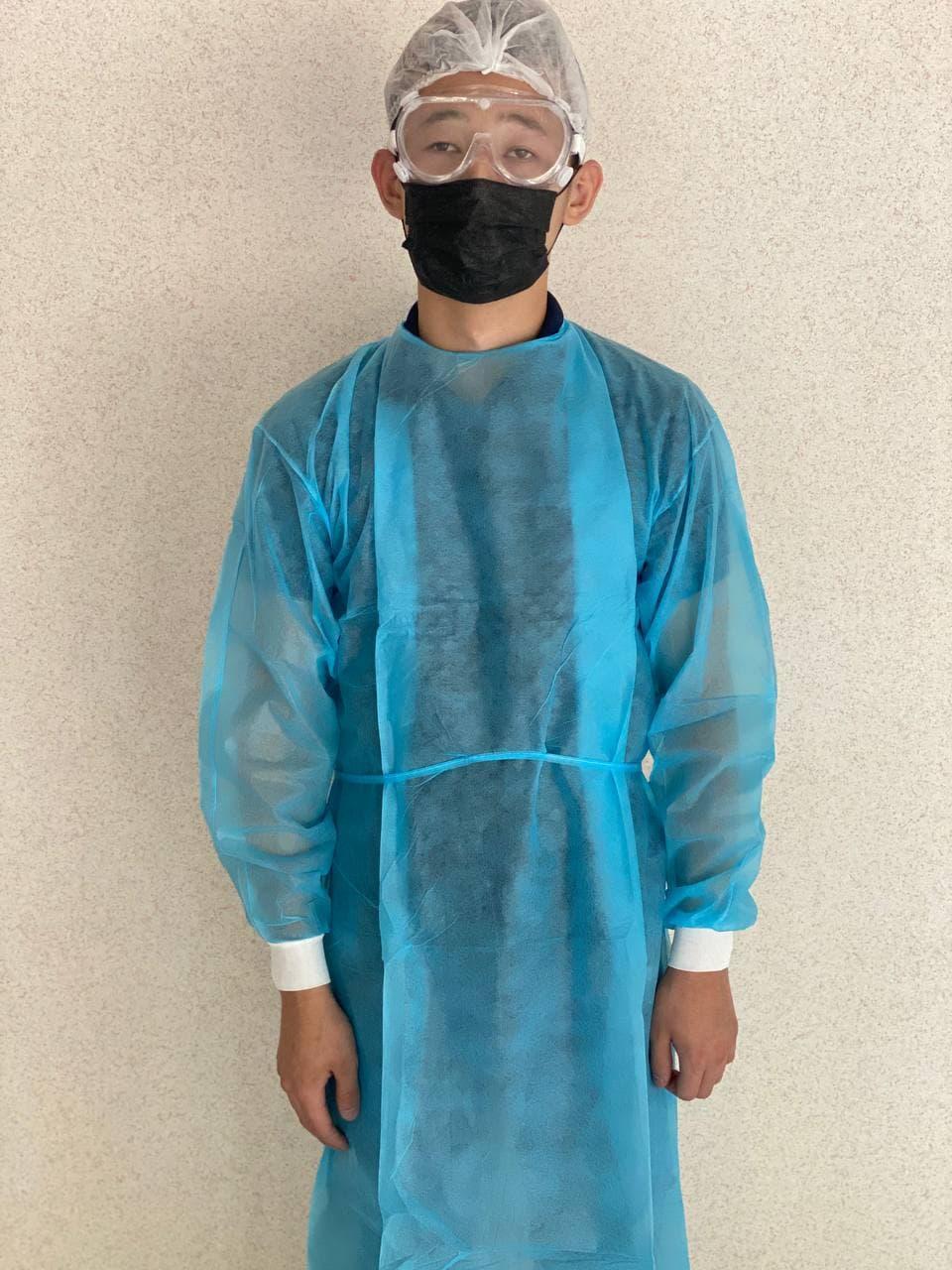 Одноразовый медицинский халат с манжетом 25\40\60гр - фото 1