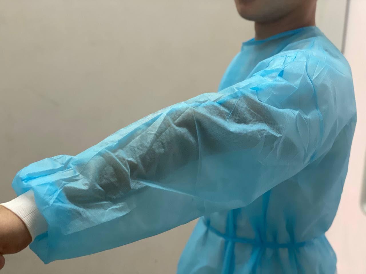 Одноразовый медицинский халат с манжетом 25\40\60гр - фото 2