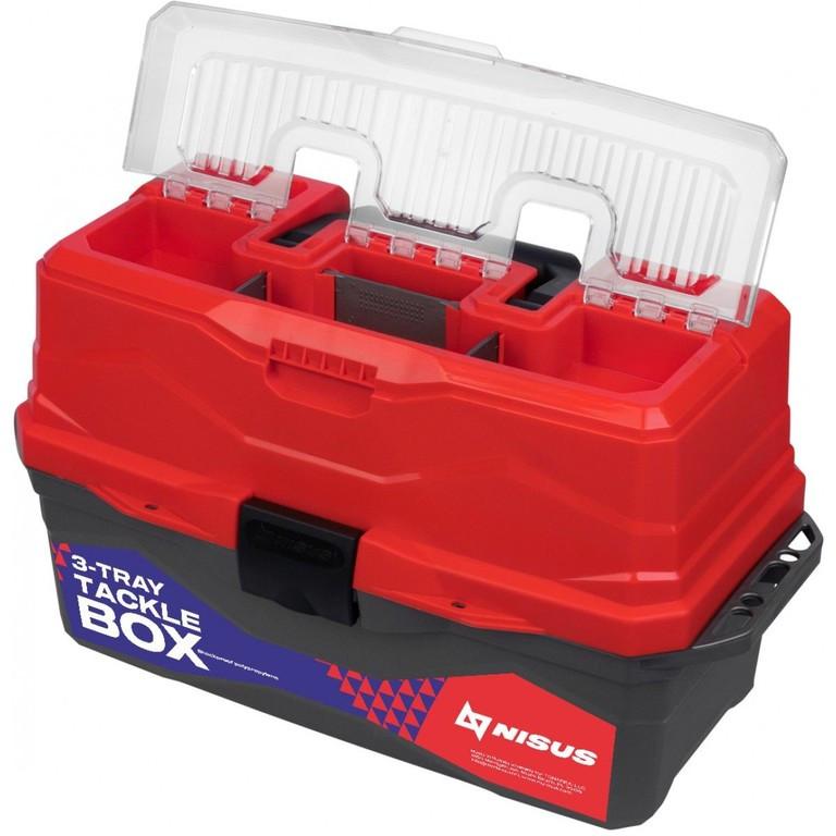 Ящик рыболова ТОНАР NISUS N-TB-3-R красный R 84099 - фото 3