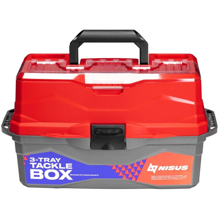 Ящик рыболова ТОНАР NISUS N-TB-3-R красный R 84099 - фото 2
