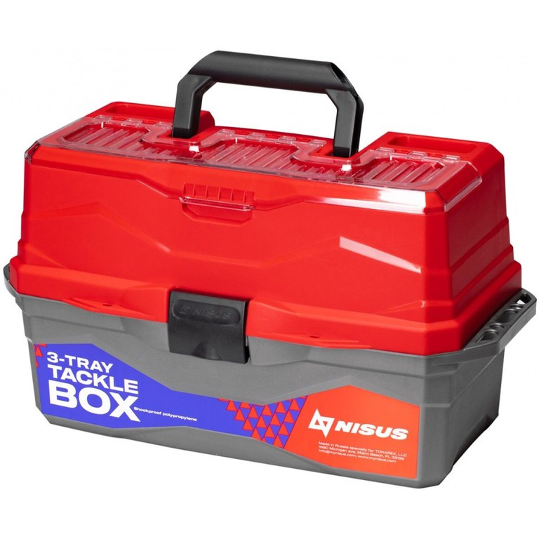 Ящик рыболова ТОНАР NISUS N-TB-3-R красный R 84099 - фото 1
