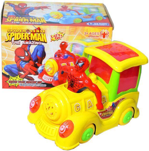 298-4 Паровозик спайдермэн Spider-Man The Amazine музыка/свет 16*23