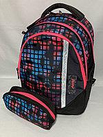 """Школьный рюкзак с пеналом""""Glossy Bird"""", 1-3-й класс. Высота 38см, ширина 30 см, глубина 15 см., фото 1"""