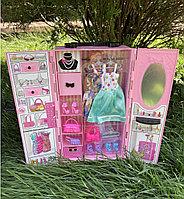 Шкаф для Барби с аксессуарами и кукла в комплекте