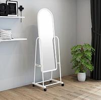 Зеркало напольное черное 160х41 см на колесах Alrossa Белое