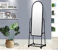 Зеркало напольное черное 160х46 см на колесах Alrossa Черное